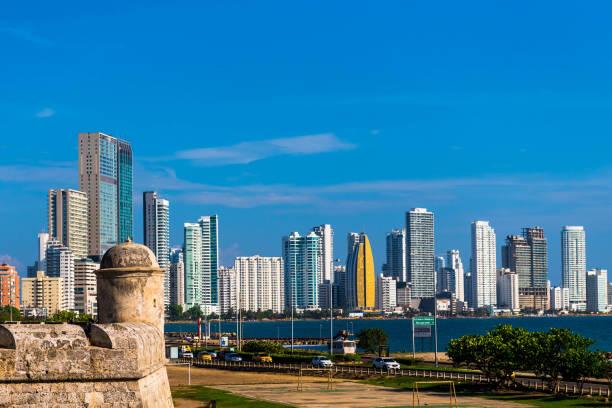 Cartagena Skyline stock photo