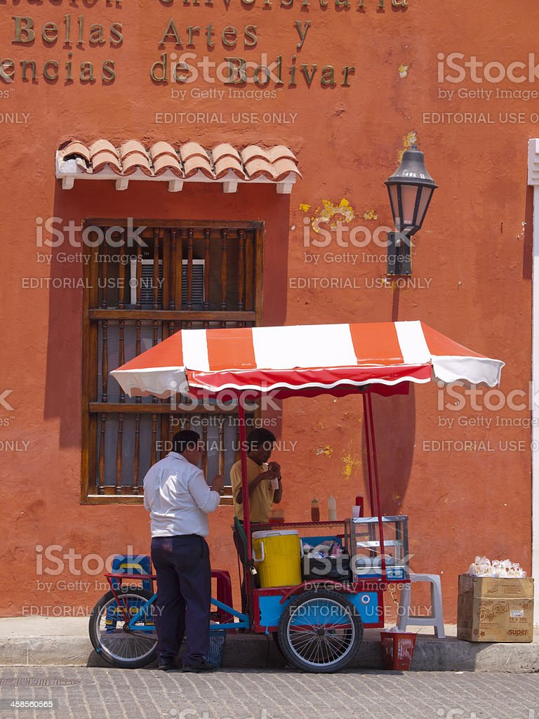 Cartagena Street Stall, Colombia royalty-free stock photo