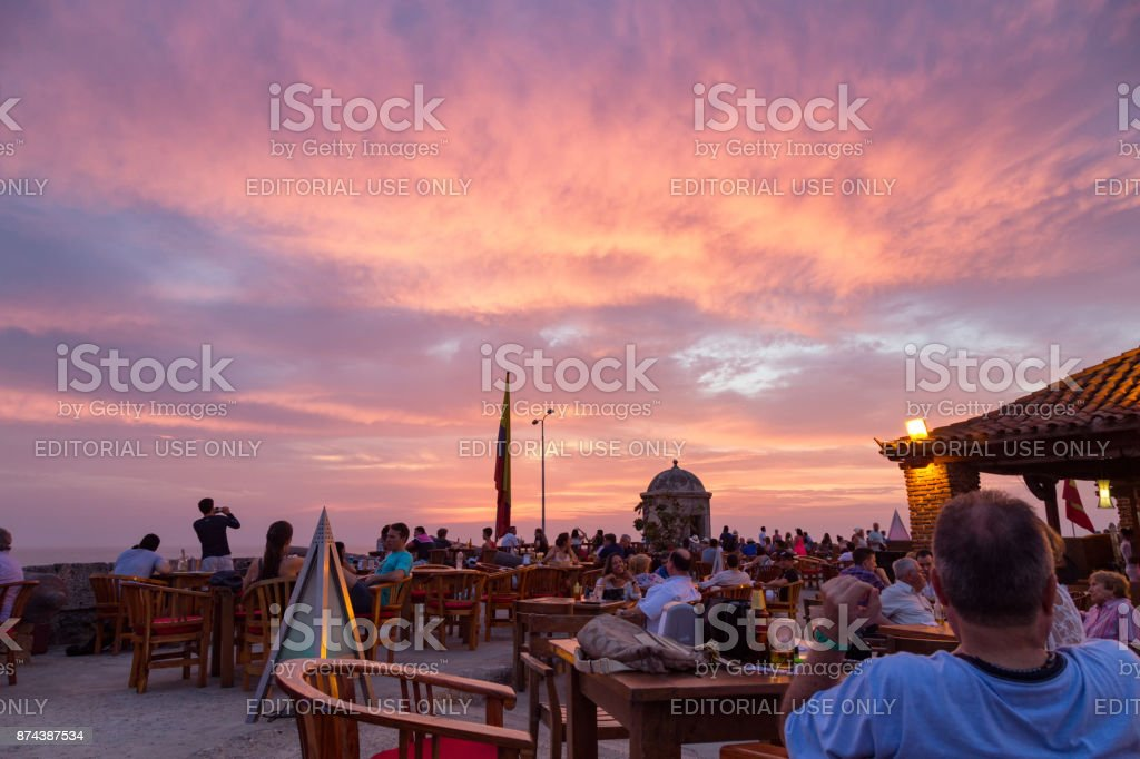 Cartagena Sunset stock photo
