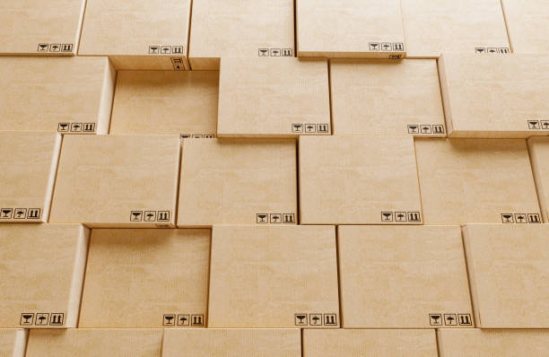 Cartboard boxes stock photo