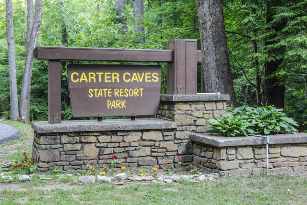 Carter Caves State Park In Kentucky stock photo