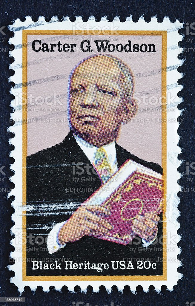 Carter G. Woodson Stamp stock photo