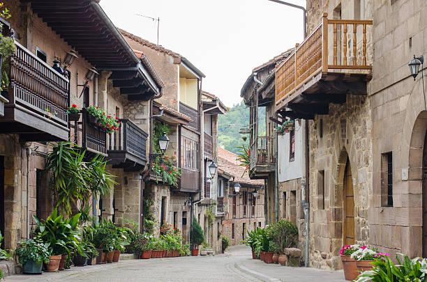 Cartes, Cantabria, Spain. Main Street Villa de Cartes, Cantabria, Spain. cantabria stock pictures, royalty-free photos & images