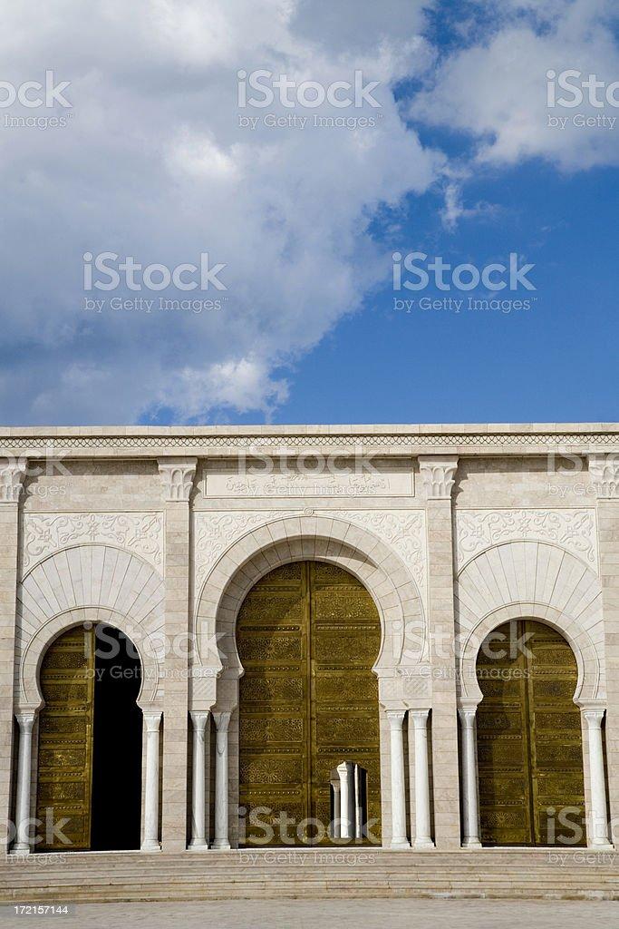 carthage mosque entrance doors royalty-free stock photo