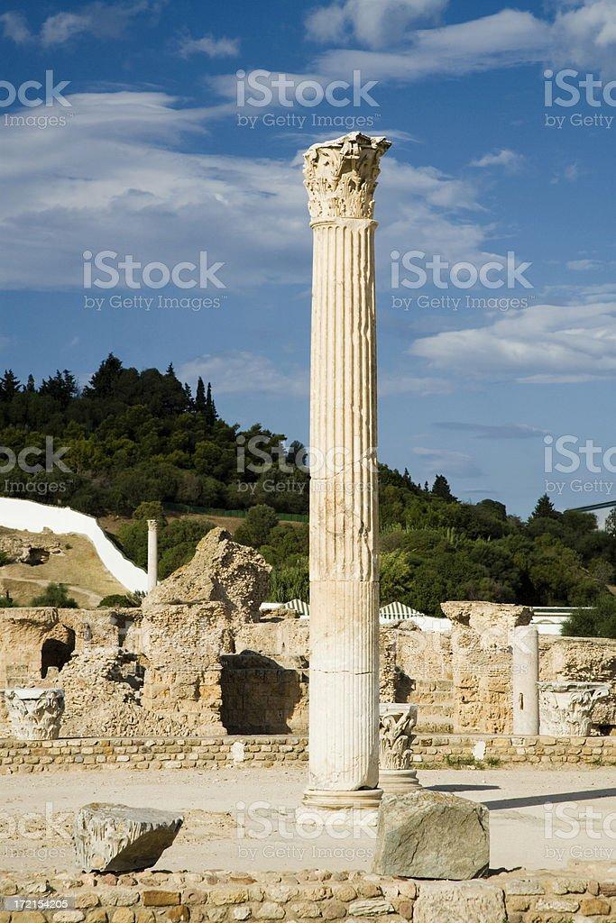 carthage ruins royalty-free stock photo