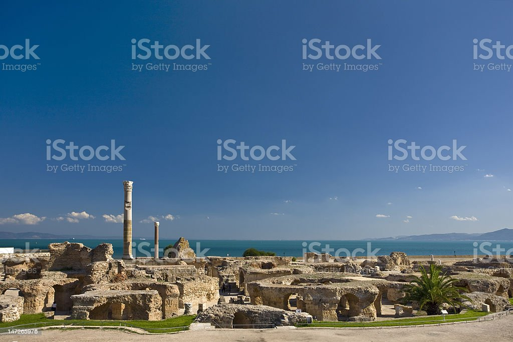 Carthage - the Antonine Baths stock photo