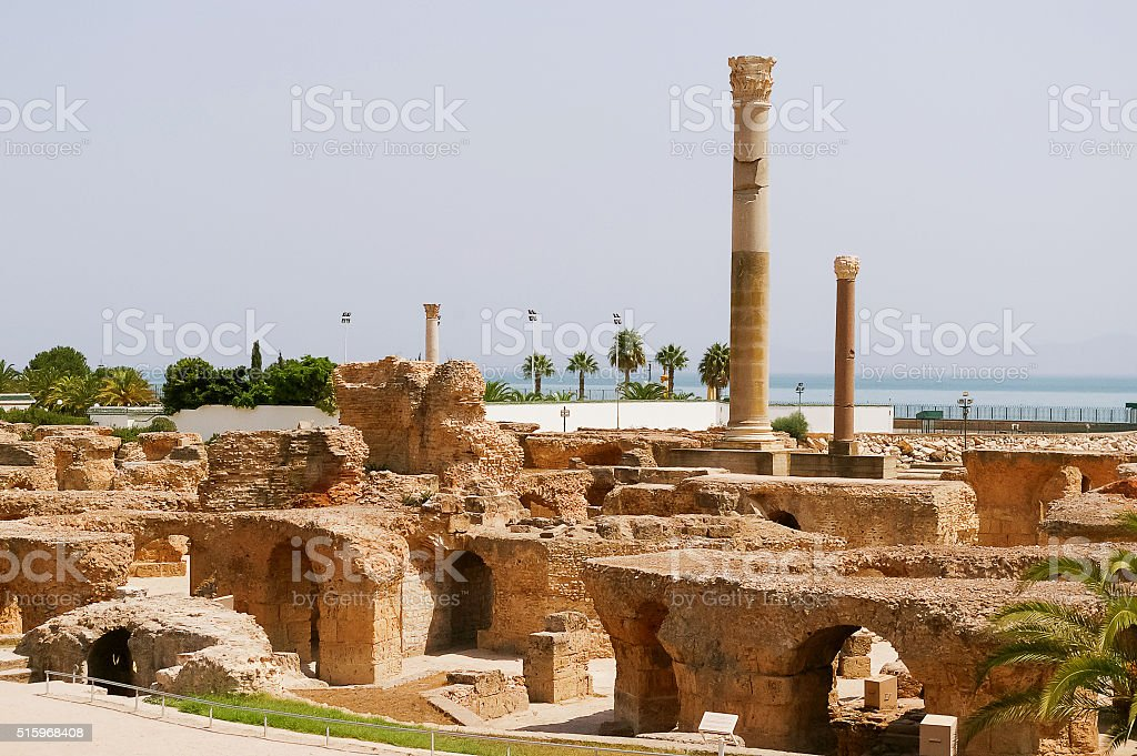 Carthago (Carthage), ruins of capital city, Tunis, Tunisia. stock photo