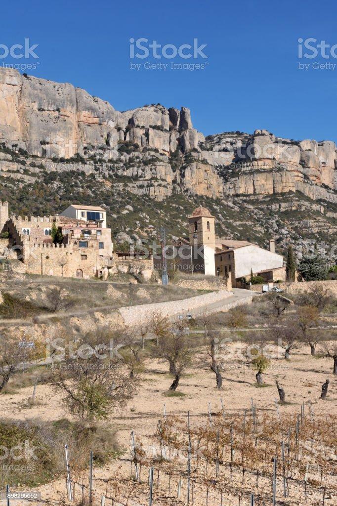 Carthusian of Escaladei in the Priorat, Tarragona province, Catalonia, Spain stock photo