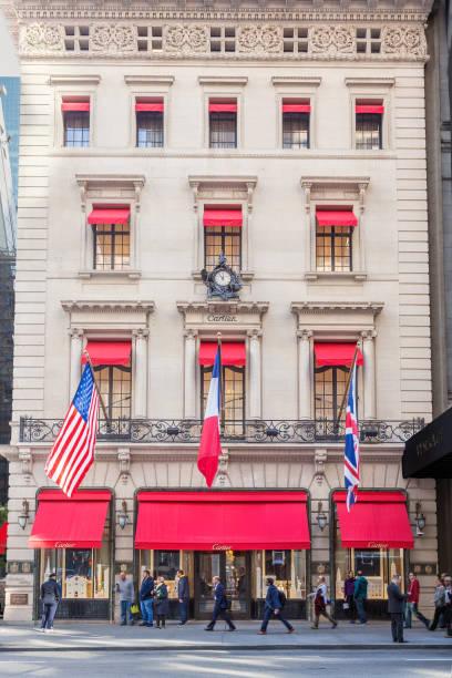 Cartier Building on 5th Avenue, Midtown Manhattan, New York City. stock photo