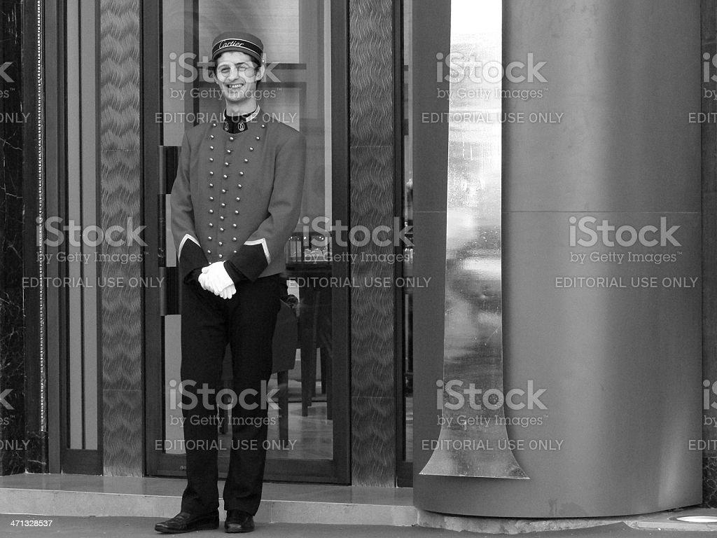 Cartier doorman royalty-free stock photo