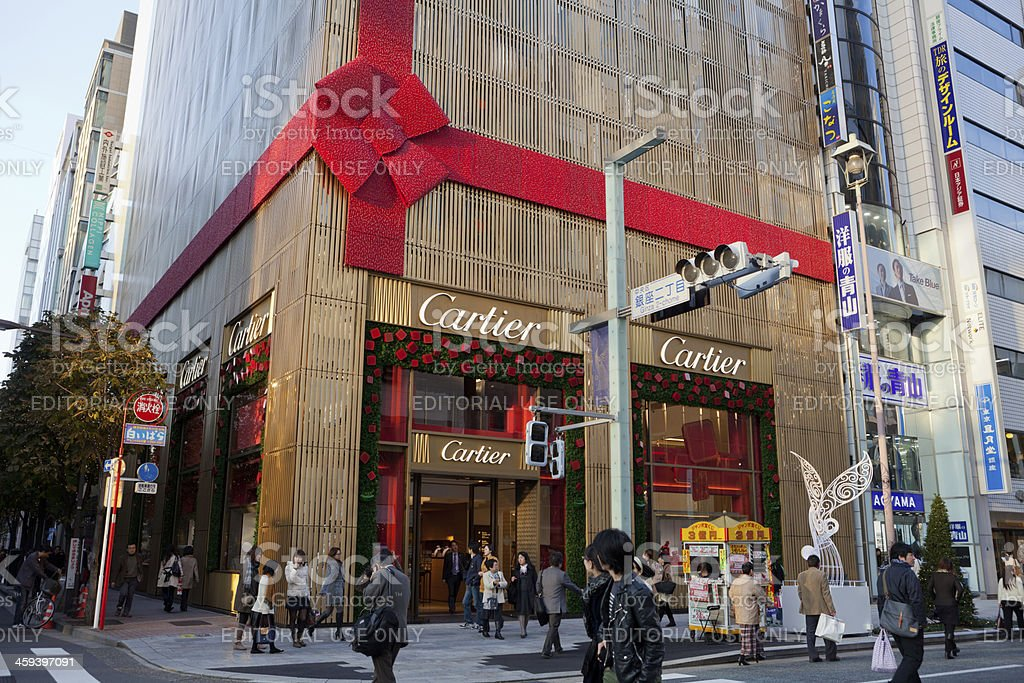 Cartier Flagship Store stock photo