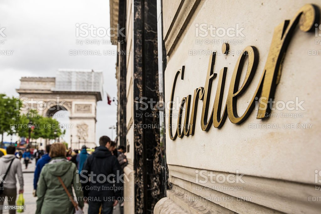 Cartier in champs elysees stock photo