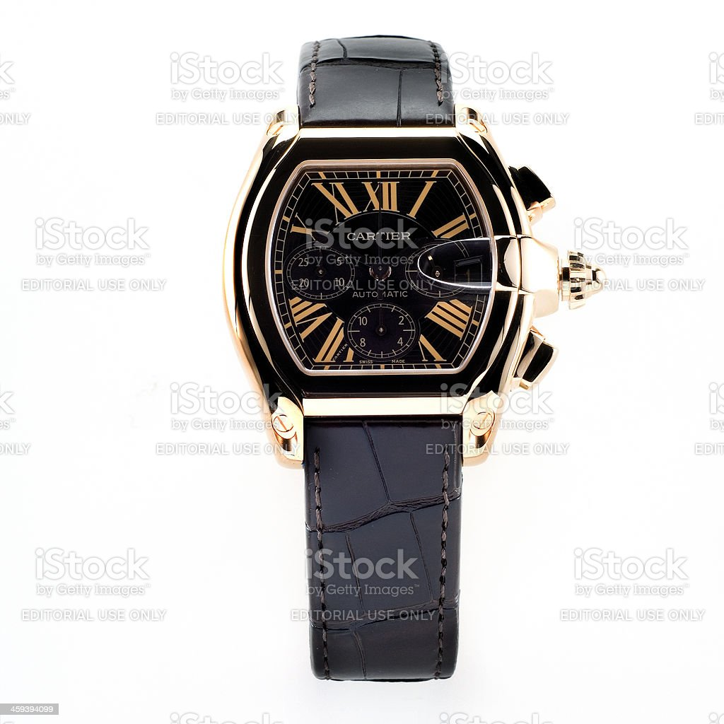 Cartier Roadster Chronograph Limited Edition wristwatch for men stock photo