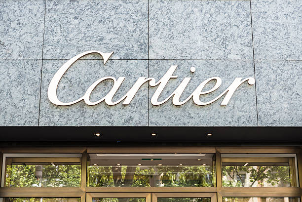 Cartier shop, Barcelona Barcelona, Spain - May 25, 2016: Cartier shop located on Passeig de Gracia, one of the most expensive streets in Europe. gracia baur stock pictures, royalty-free photos & images