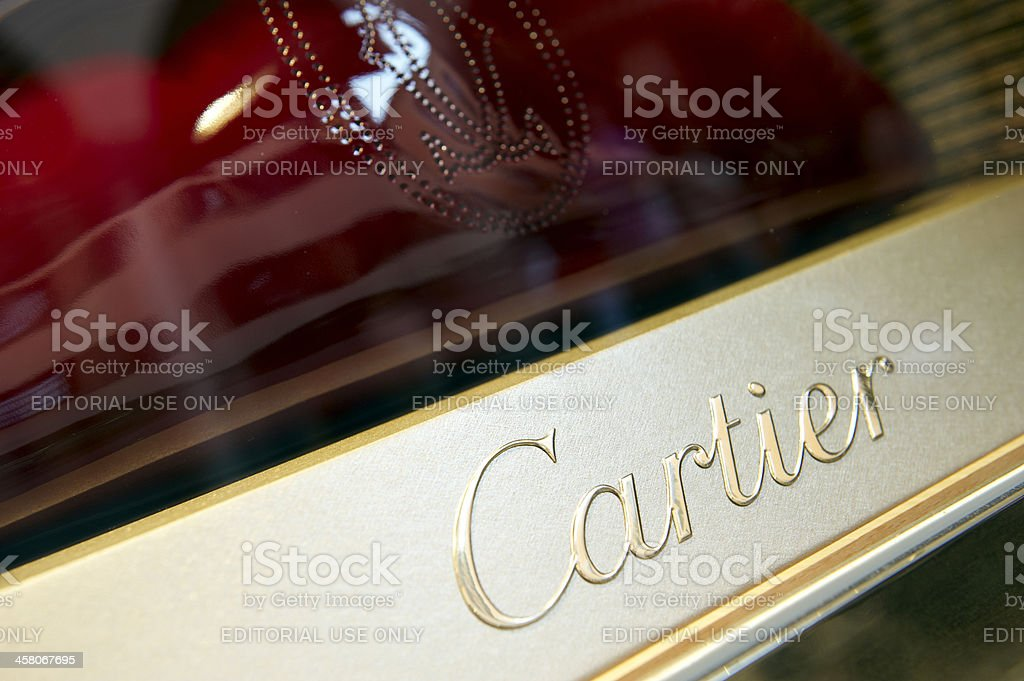 Cartier Sign stock photo