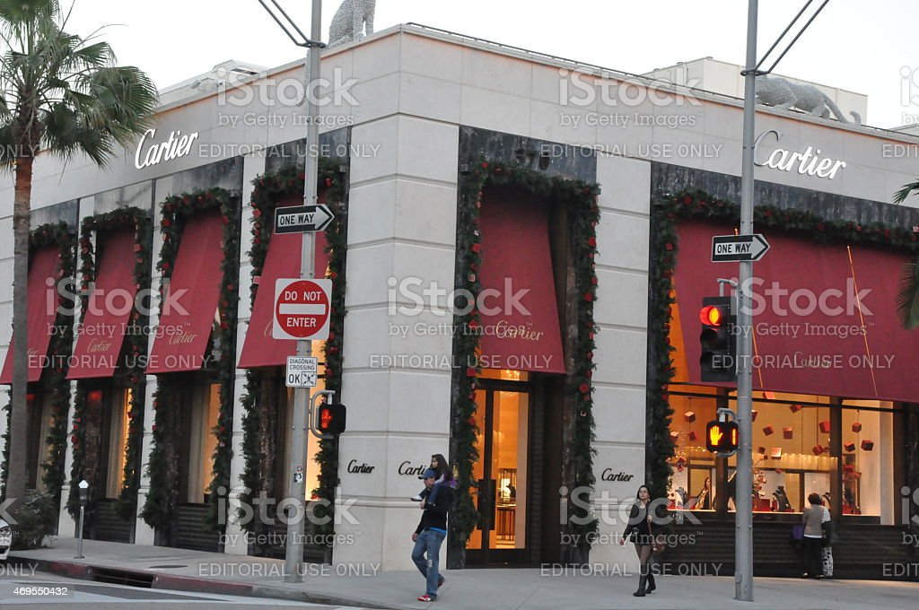 Cartier store at Rodeo Drive in Beverly Hills, California stock photo