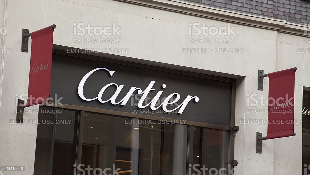Cartier store front with logo stock photo