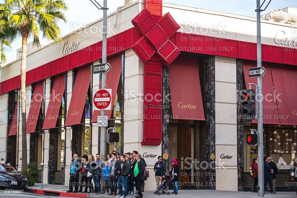 Cartier store on Rodeo Drive, Beverly Hills, USA stock photo