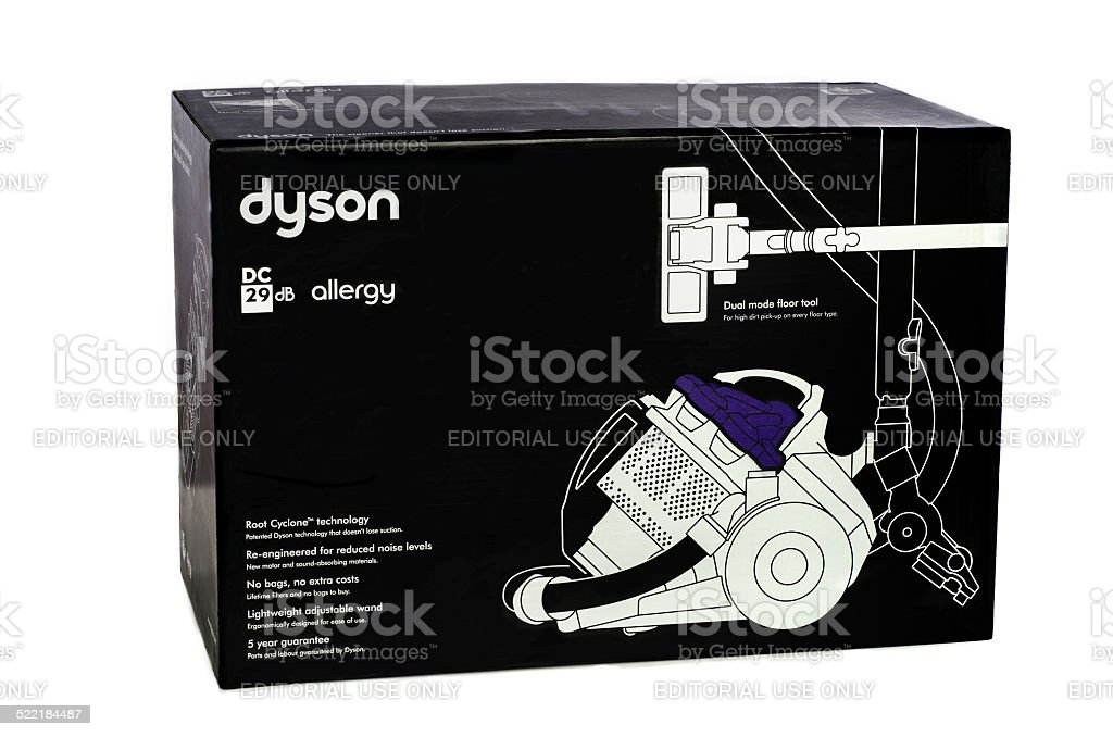 Carton box of Dyson DC 29 DB Allergy stock photo