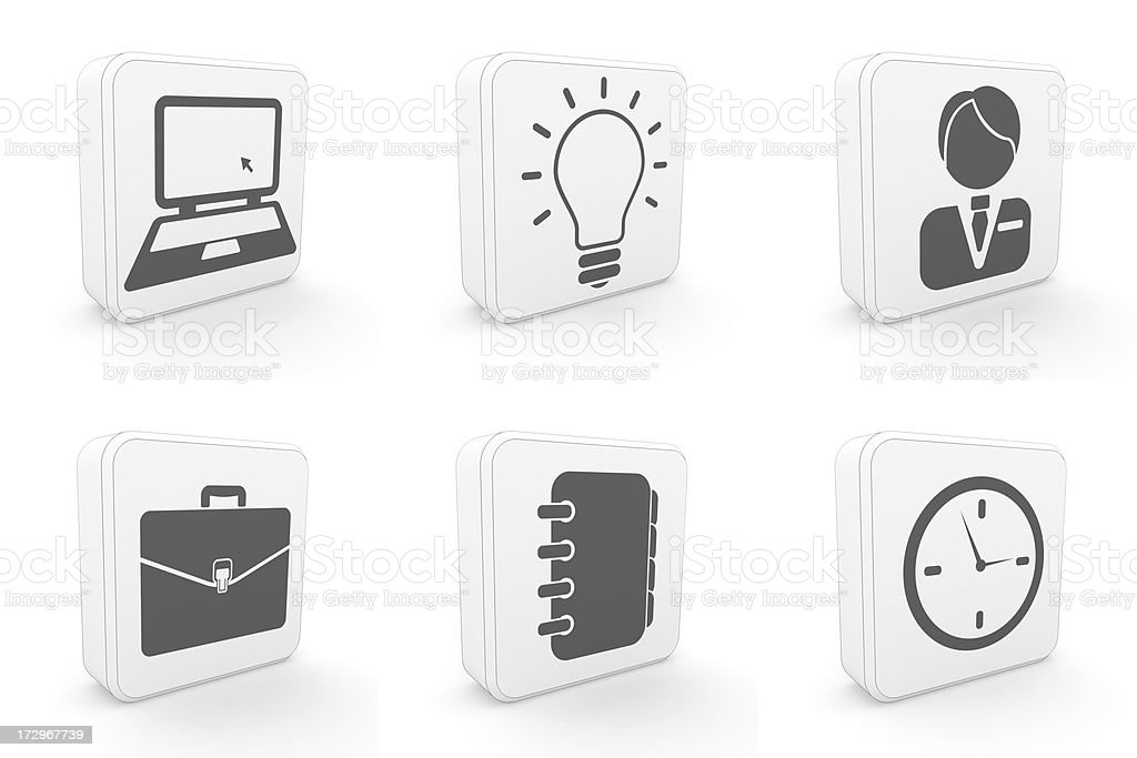 carton icons - business royalty-free stock photo