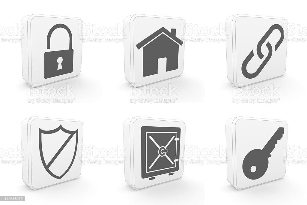 carton icons - security royalty-free stock photo