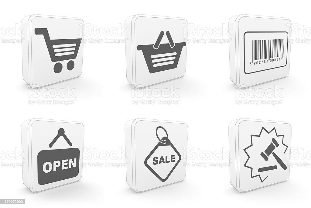 carton icons - shopping royalty-free stock photo