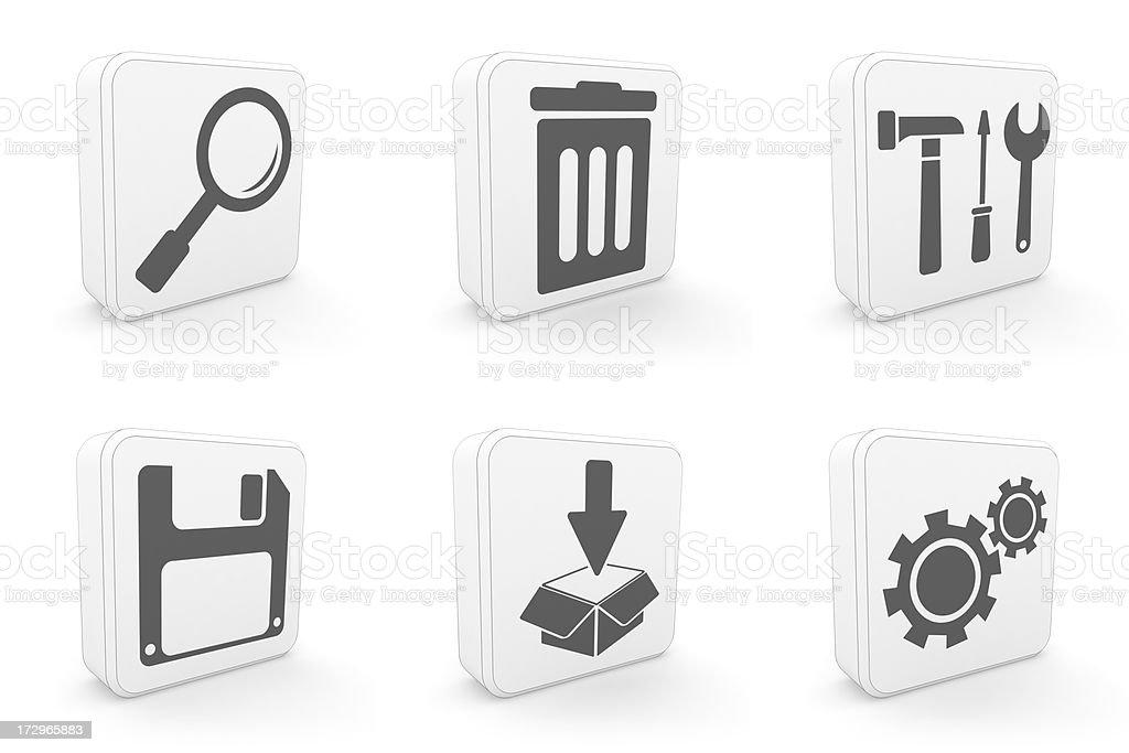 carton icons - system royalty-free stock photo