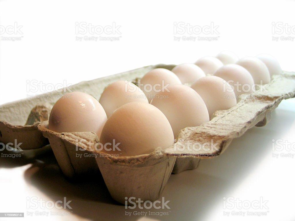 Carton of Eggs royalty-free stock photo