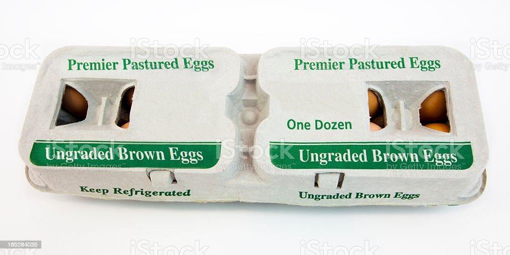 Carton of Eggs stock photo