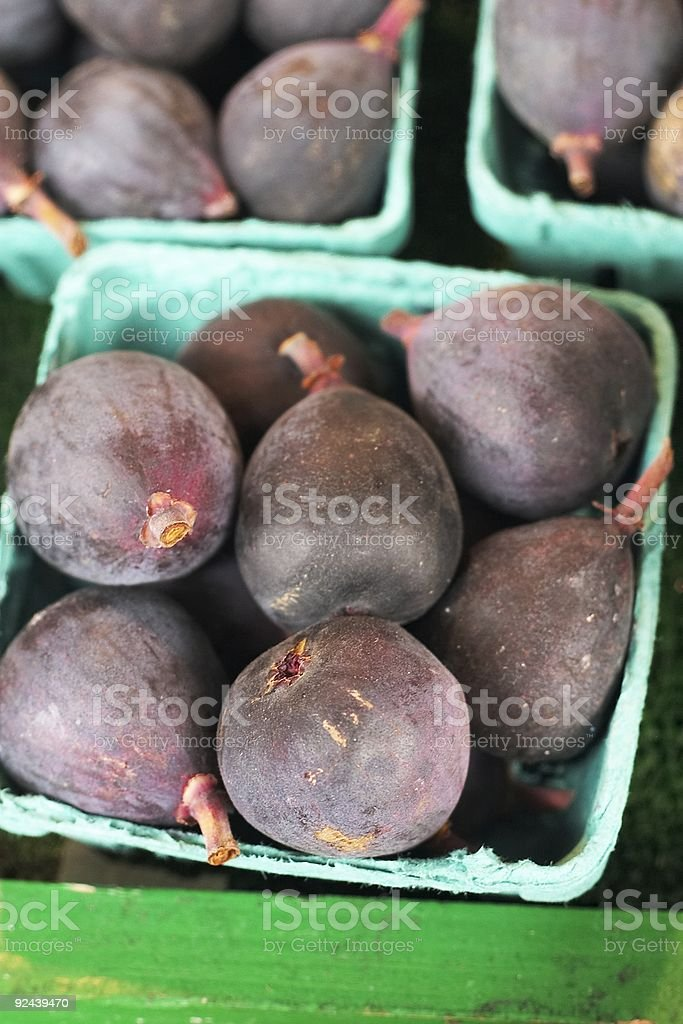 Carton of figs royalty-free stock photo