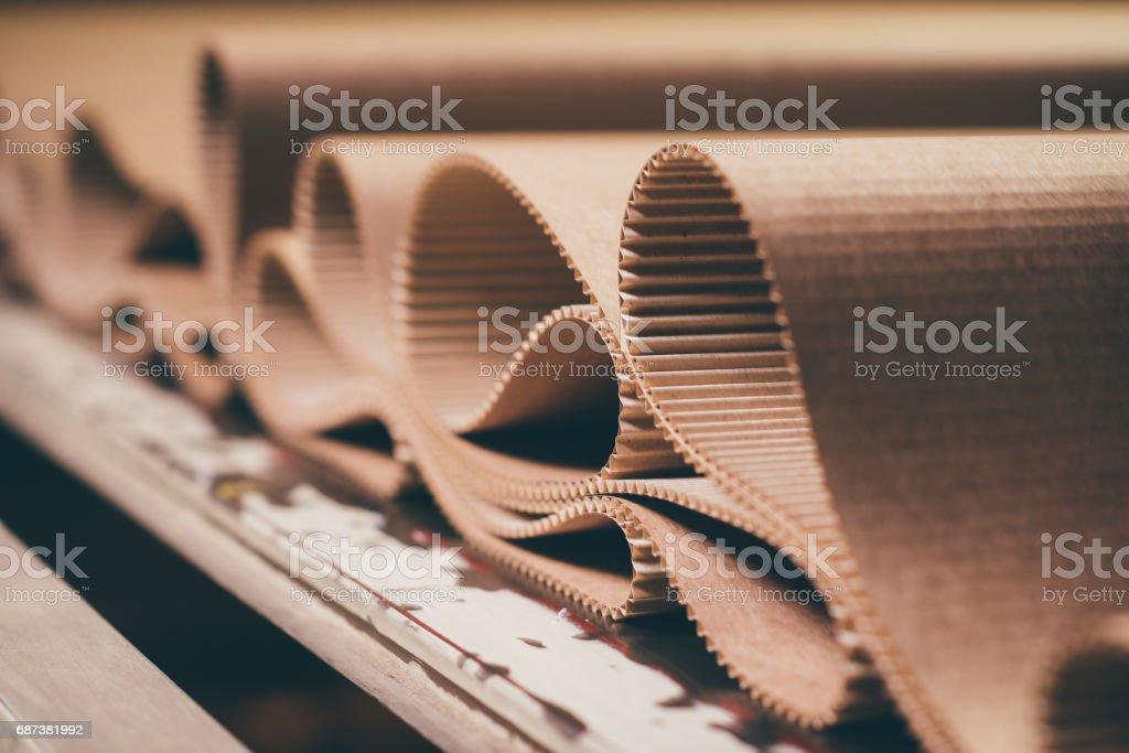 carton processing at a factory stock photo