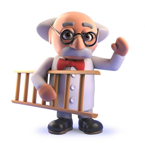 Cartoon 3d mad scientist professor holding a ladder picture id1162557557?b=1&k=6&m=1162557557&s=612x612&w=0&h=3zxymuwyhe8efe2mm8fk8ejjnfv50q82m8lgwtmb1f4=