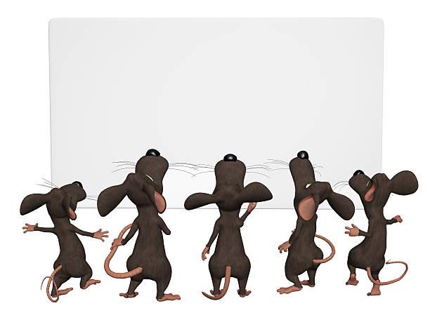 comic 3d mice mit leeren frame - maus comic stock-fotos und bilder