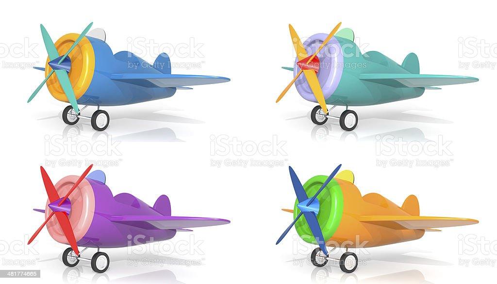 Cartoon Airplanes stock photo