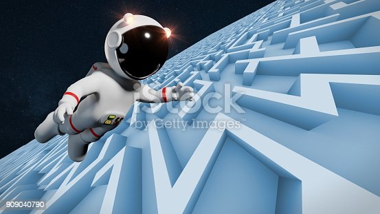 space adventure of an adorable cartoon character