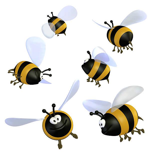 Cartoon bees stock photo