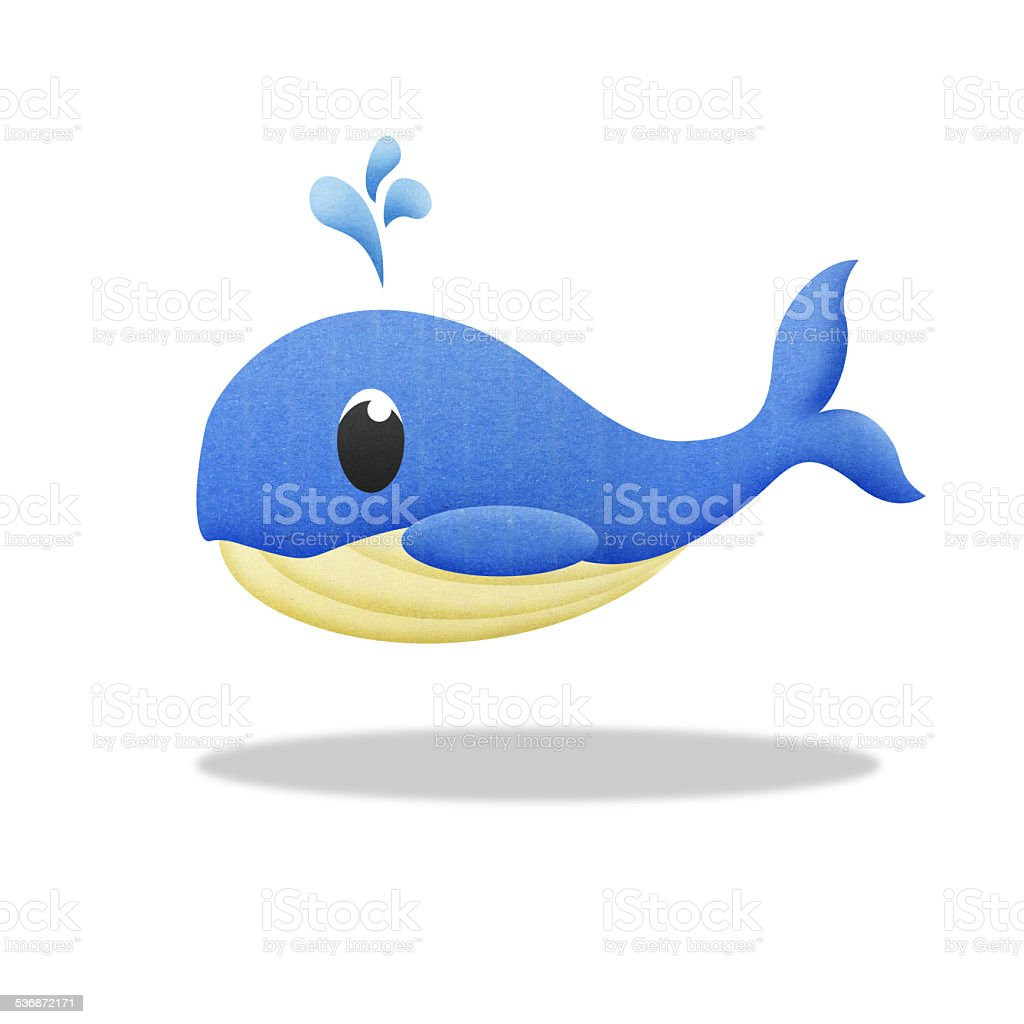 cartoon blue whale stock photo