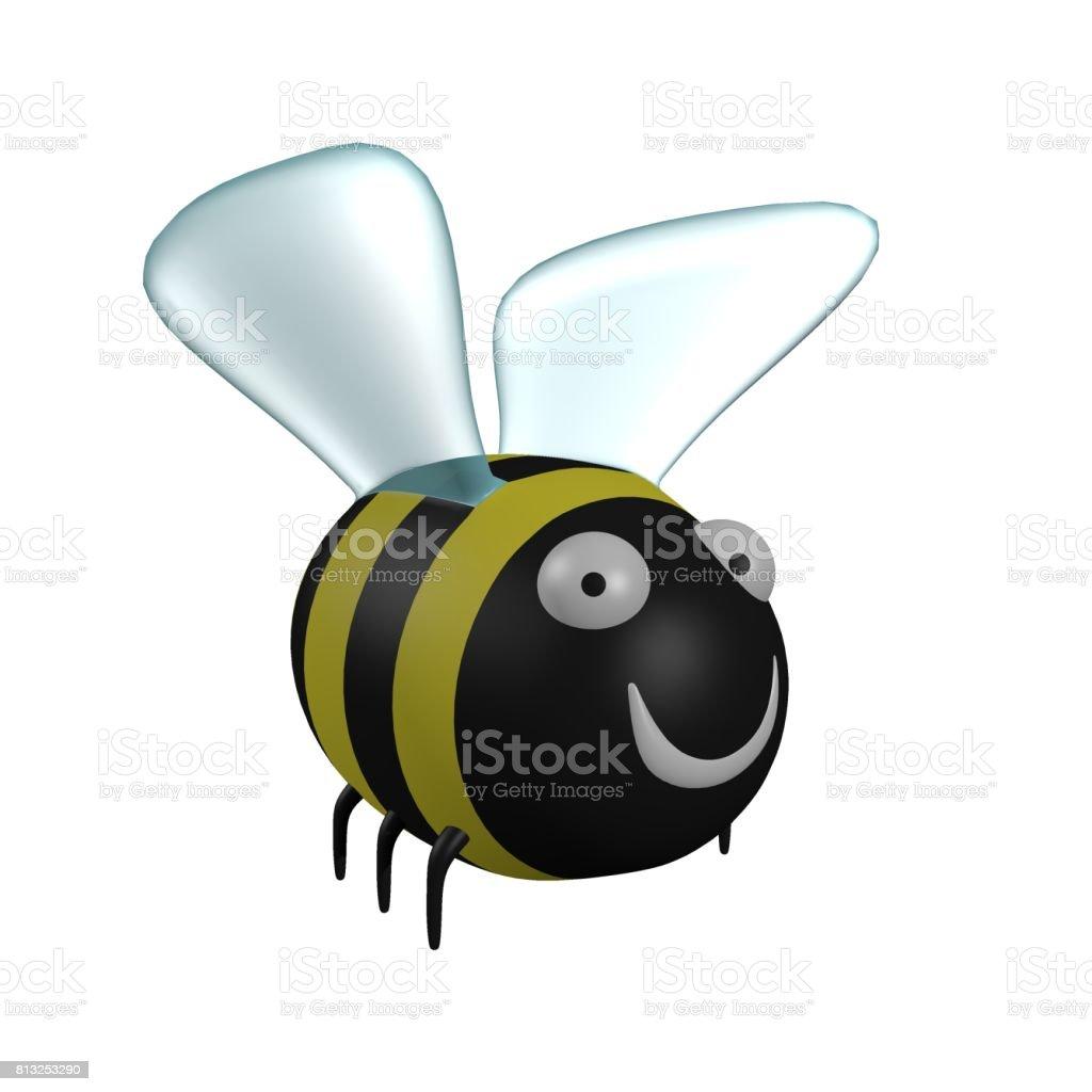 Cartoon bumblebee stock photo