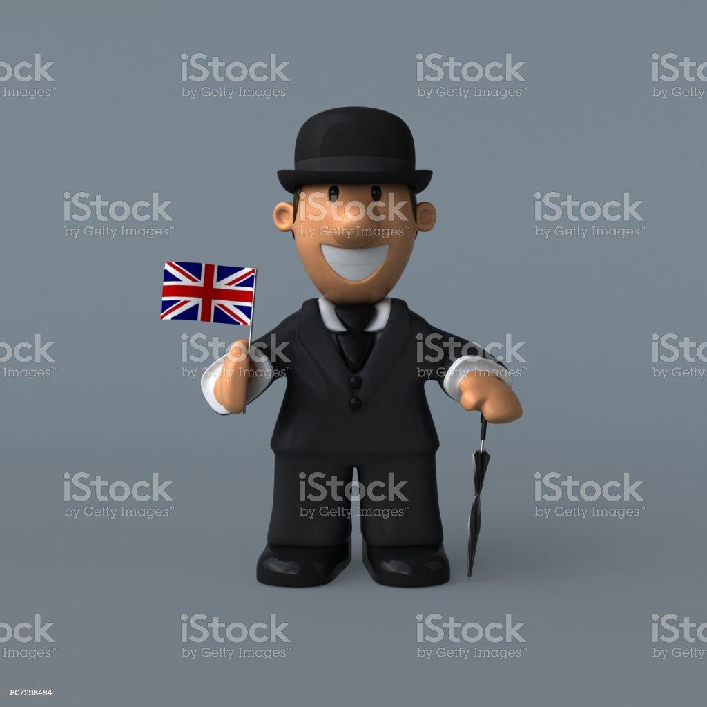 Cartoon businessman - 3D Illustration stock photo