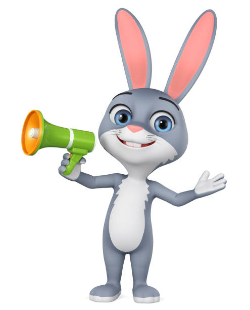 Cartoon character gray rabbit with megaphone on white background picture id1166400488?b=1&k=6&m=1166400488&s=612x612&w=0&h=qd2bftzxdfgmhtr9omwgcdgw1jqbdcnsutiw2emrnyk=