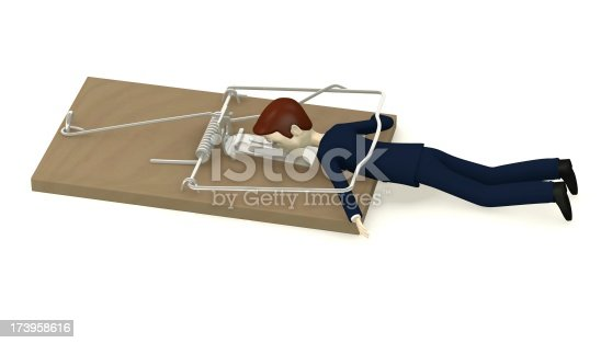 495695633 istock photo cartoon character killed by mousetrap 173958616