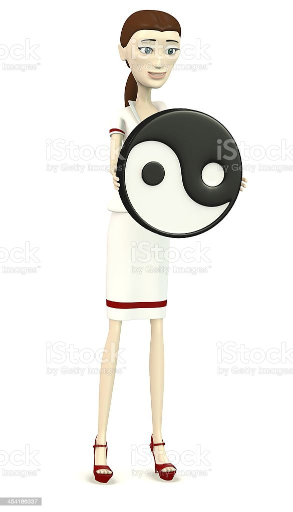cartoon character with tao royalty-free stock photo