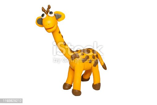 istock Cartoon characters, Giraffe isolated on white background with clipping path. 1193825212