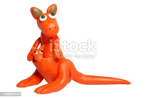 istock Cartoon characters, Kangaroo isolated on white background with clipping path. 1193825740
