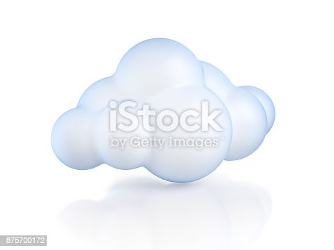 istock cartoon cloud 3d isolated illustration 875700172