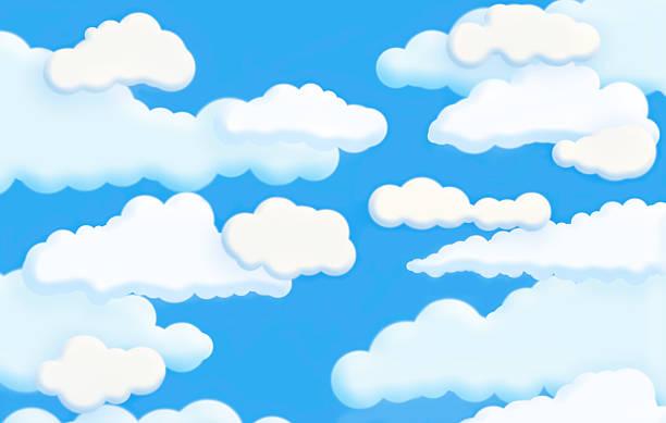 Cartoon clouds stock photo