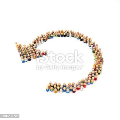 688200936 istock photo Cartoon Crowd, Cycle 156203722