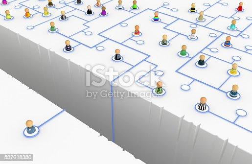istock Cartoon Crowd, Link Crevasse 537618380