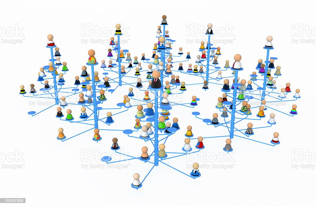 Cartoon Crowd, Link Forest royalty-free stock photo