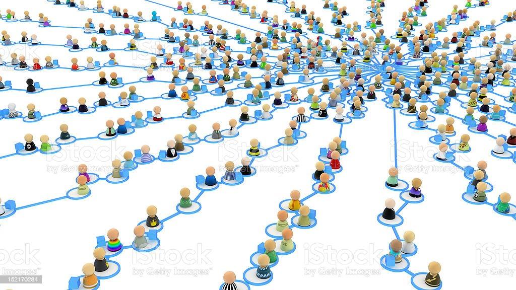 Multitud de historieta enlaces, suministro Web Center - foto de stock